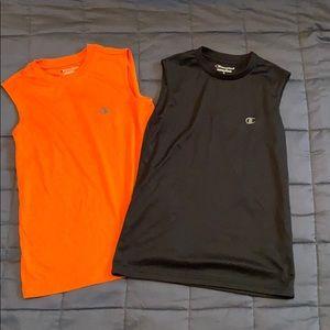 "Boys ""Champion"" muscle workout shirts (pair)"